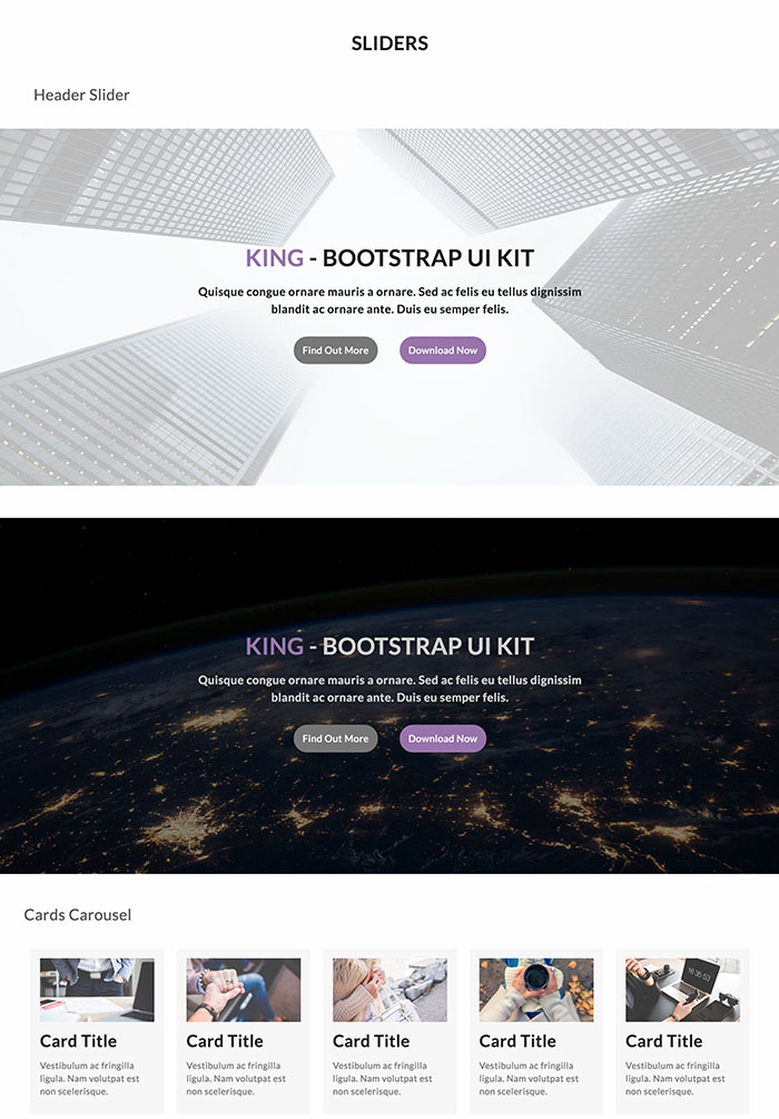 King UI - Bootstrap UI & Components Kit Live Preview   WrapBootstrap